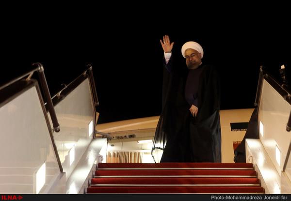 حسن روحانی مسکو را به مقصد تهران ترک کرد