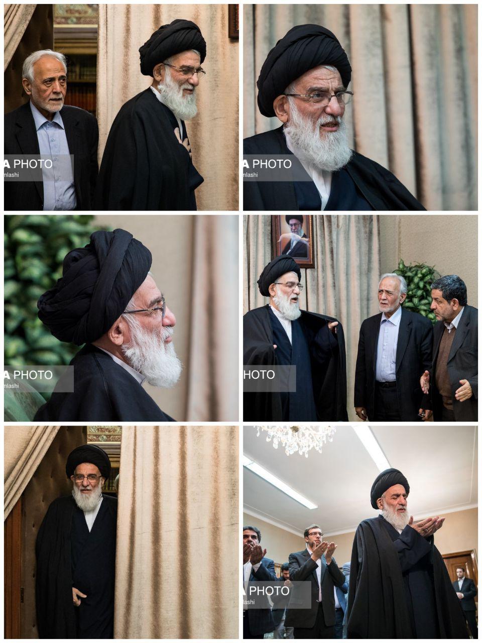 تصاویر/ آیت الله هاشمی شاهرودی بعد از بازگشت از سفر پرحاشیه به آلمان