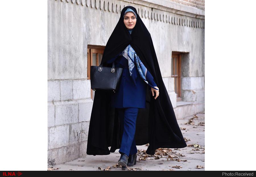 مهناز افشار با حجاب چادر در یک سریال +عکس