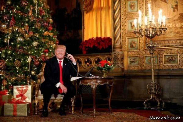 کریسمس مجلل و اعیانی ترامپ و ملانیا + عکس