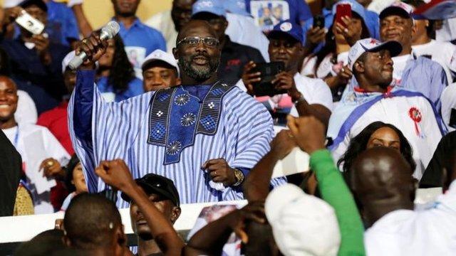 پیروزی ژرژ وهآ در انتخابات ریاست جمهوری لیبریا
