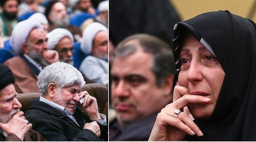 اشکها و تمجیدها برای آیتالله هاشمی+تصاویر