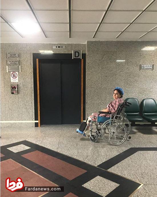 عکس/ آخرین وضعیت الناز شاکردوست در بیمارستان