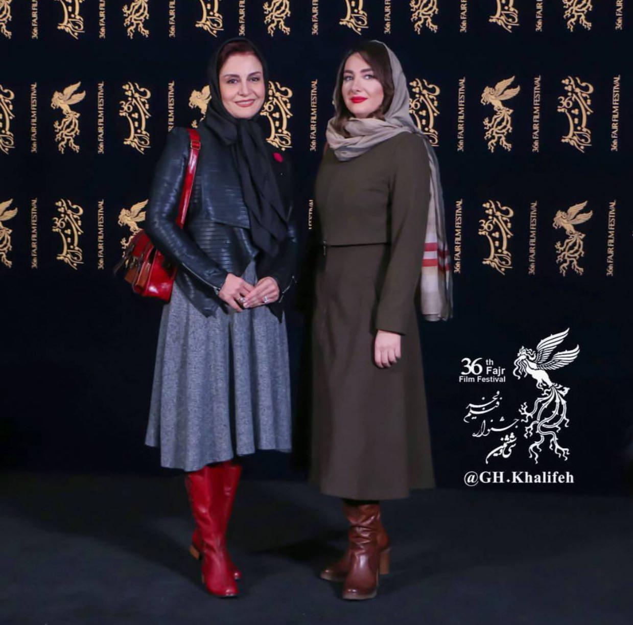 تیپ زدن متفاوت دو خانم هنرپیشه فوق مشهور برای جشنواره فیلم فجر + عکس