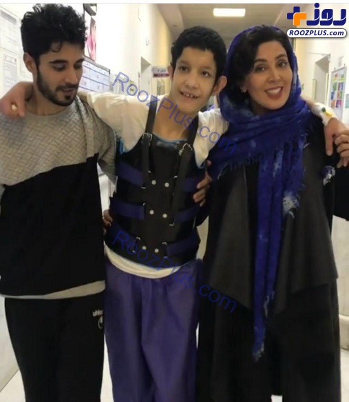 بازیگر زن پرحاشیه و پسرخوانده اش در بیمارستان+عکس