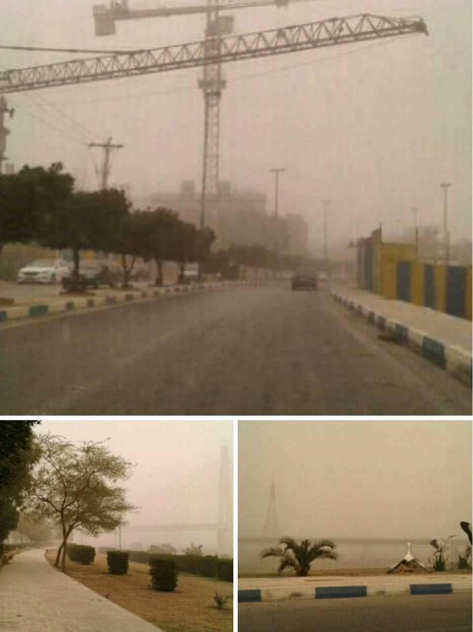 غلظت خاک در هوای اهواز به بیش از ۴۷ برابر حد مجاز رسید/ عکس