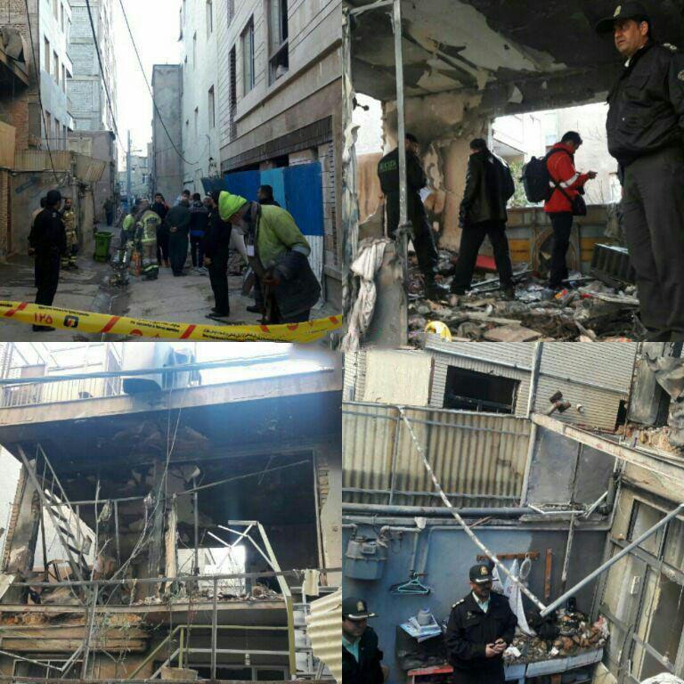 تخریب ساختمان دو طبقه در خیابان مرتضوی /عکس