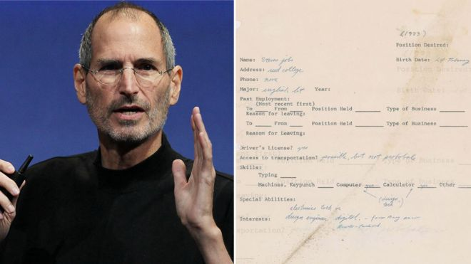 حراج نامه درخواست کار استیو جابز در سال۱۹۷۳ +عکس
