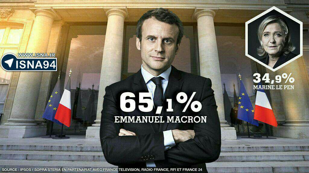 امانوئل مکرون رئیس جمهوری فرانسه شد