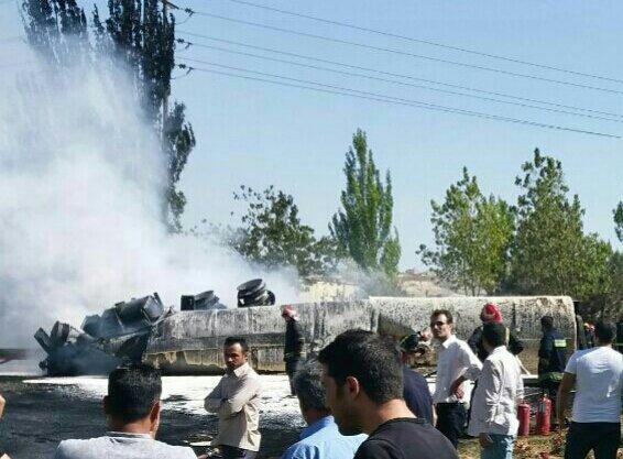 عکس 136828_484 انفجار مرگبار تانکر حامل گازوئیل در تبریز+فیلم و تصاویر