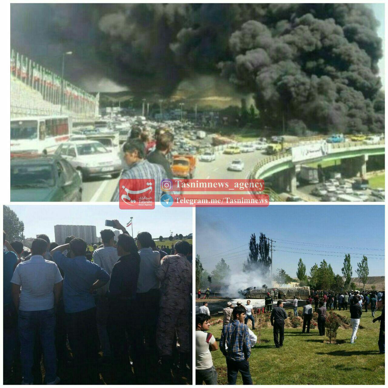 عکس 136829_161 انفجار مرگبار تانکر حامل گازوئیل در تبریز+فیلم و تصاویر