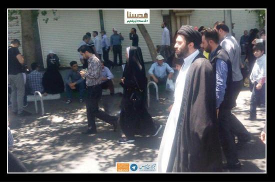 حجتالاسلام میثم خامنهای در راهپیمایی روز قدس