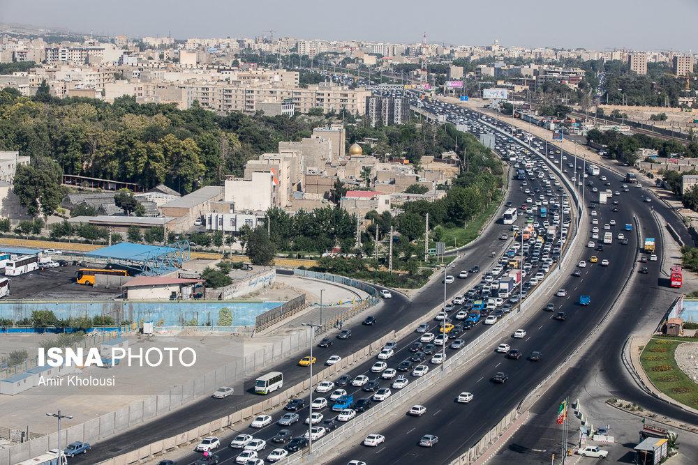 عضویت در تلگرام ناجا وضعیت ترافیکی جادهها/تصاویر هوایی