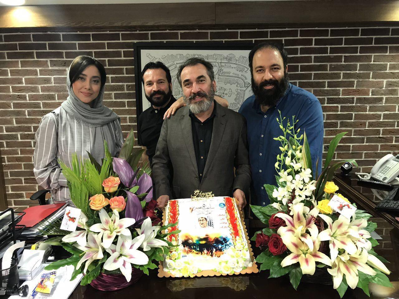 بهاره کیانافشار در جشن تولد سیامک انصاری