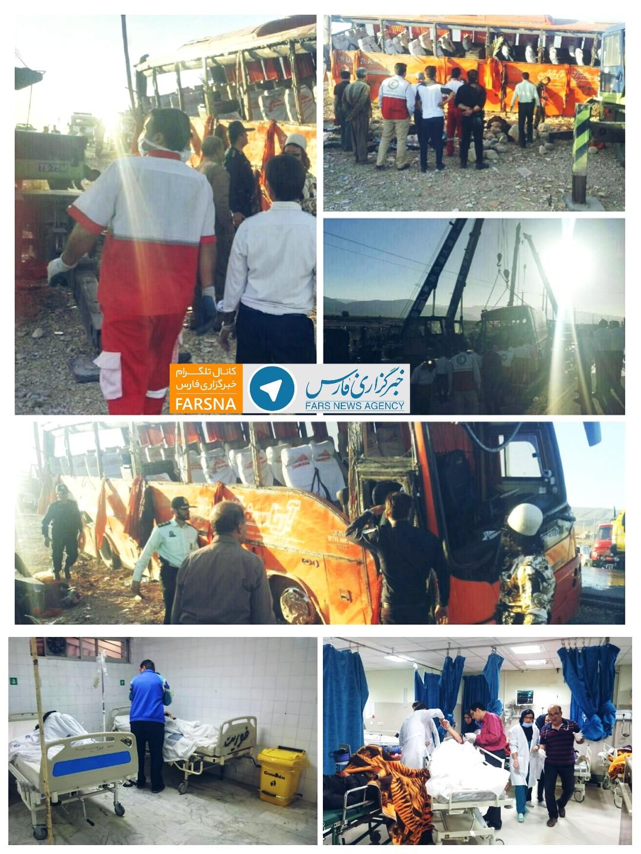 واژگونی اتوبوس دانشآموزان دختر هرمزگانی/۱۲ کشته/حال ۱۳ نفر از مجروحان وخیم+عکس