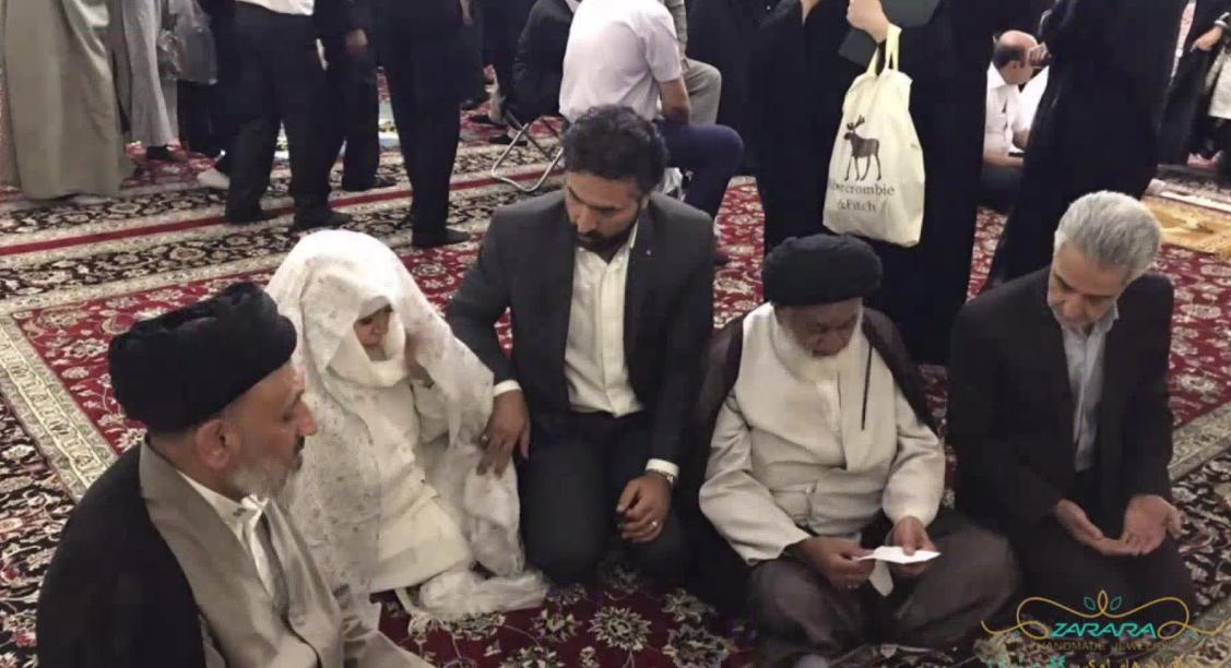 تصاویر مراسم عقد «بهاره رهنما» و همسرش در حرم امام رضا (علیهالسلام)