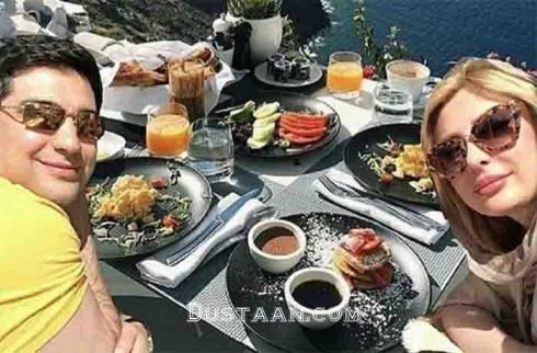 عکس: صبحانه لاکچری نیوشا ضیغمی و همسرش!