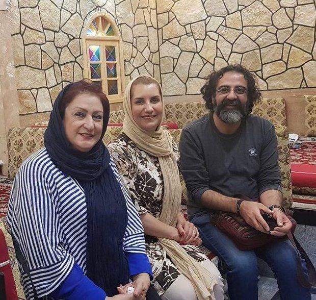 عکس/ «فریبا کوثری» و «مریم امیرجلالى» در کنار مجری معروف