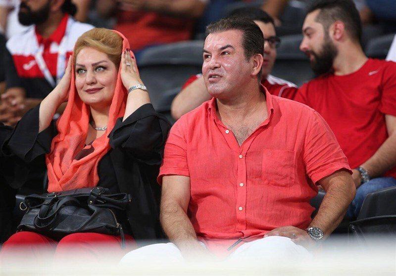 تصاویر/ حمید استیلی در کنار خانواده نظاره گر برد سرخ پوشان
