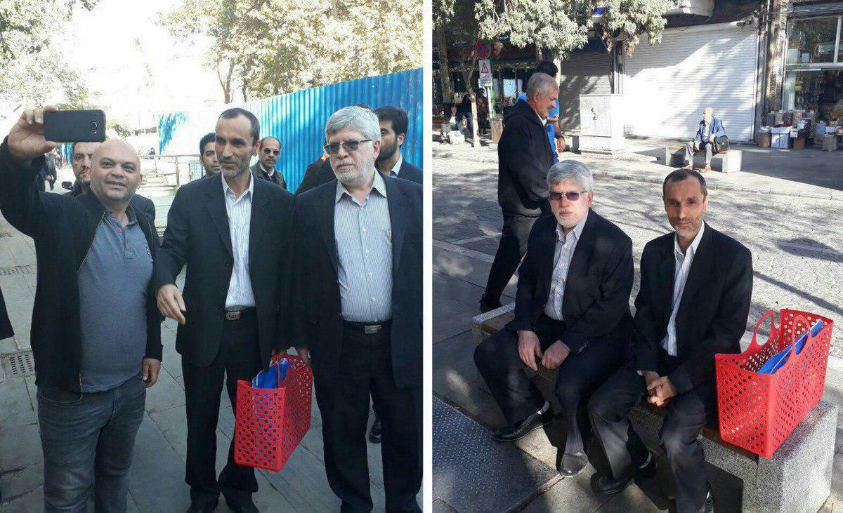 معاون احمدینژاد با زنبیل قرمز به دادگاه رفت/بقایی: این دادگاه سیاسی است+عکس