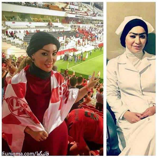 تیپ بازیگر زن سریال شهرزاد در ورزشگاه ابوظبی ! + عکس