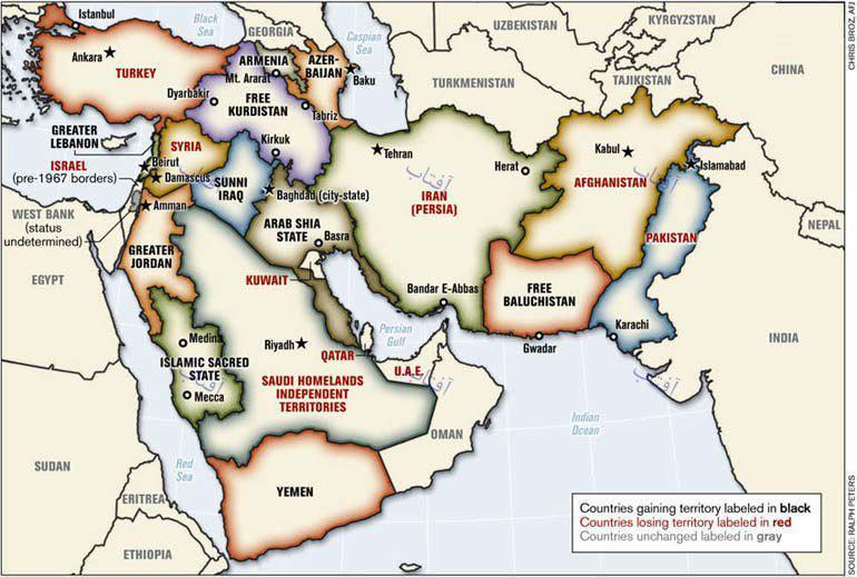 جزئیات برنامهریزی تغییر مرزها و طرح خاورمیانه جدید/عراق به ۳ کشور تبدیل میشود؟