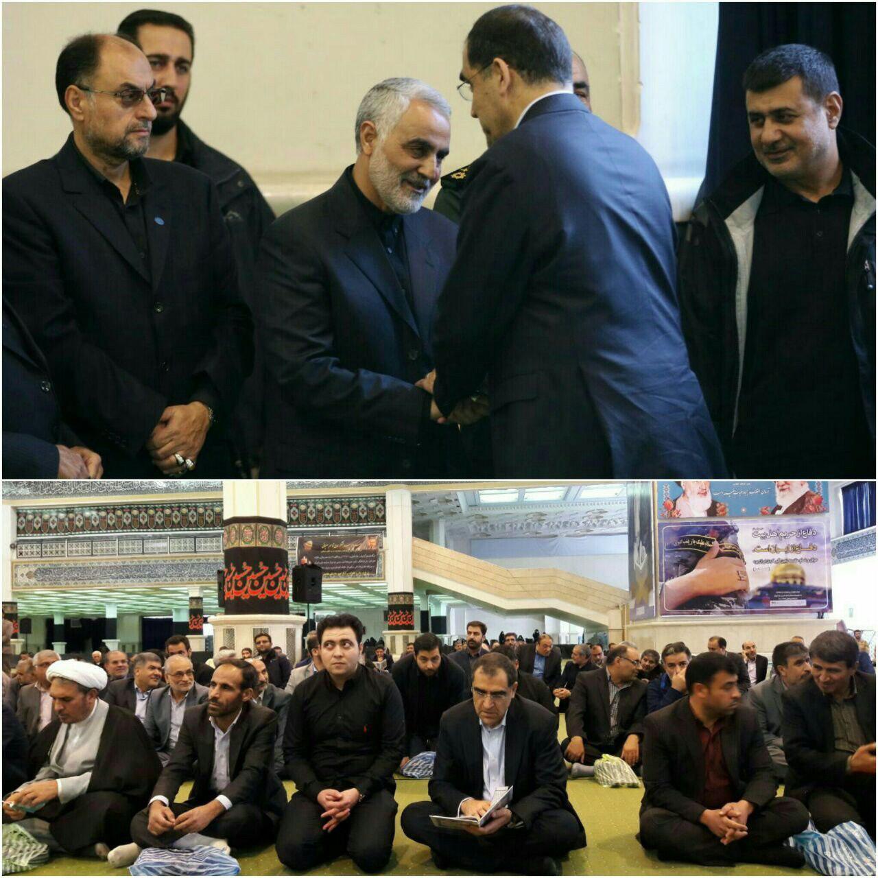 حضور وزیر بهداشت در مراسم ترحیم پدر سردار سلیمانی/عکس