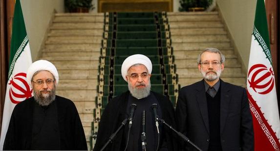 در نشست روسای سه قوه چه گذشت؟/اظهارات روحانی در پایان جلسه+فیلم و عکس