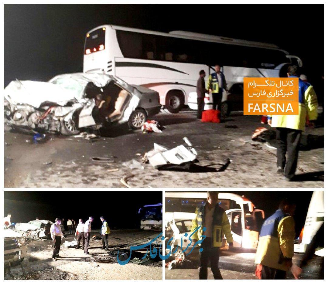 تصادف خونین در مناطق زلزلهزده/عکس