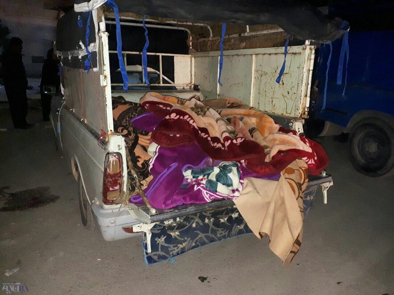 تصویری دلخراش از قربانیان زلزله ۷.۳ ریشتری شب گذشته در قصرشیرین