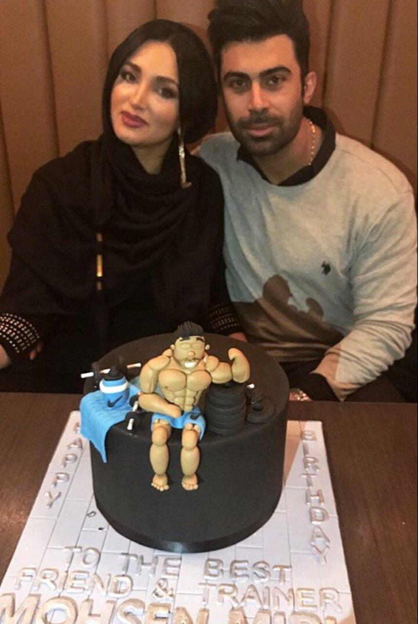 تیپ خانم بازیگر در شب تولد همسرش + عکس