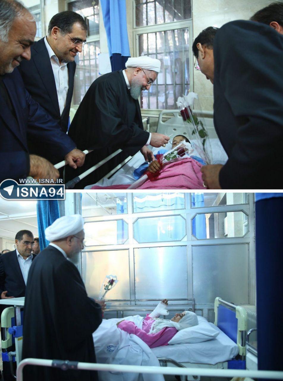 نسبت به رفع نیازهای زلزلهزدگان سختگیری به خرج ندهیم عیادت رئیسجمهور از مصدومان زلزله/ تاکید بر تسریع در روند درمان حادثهدیدگان+تصاویر