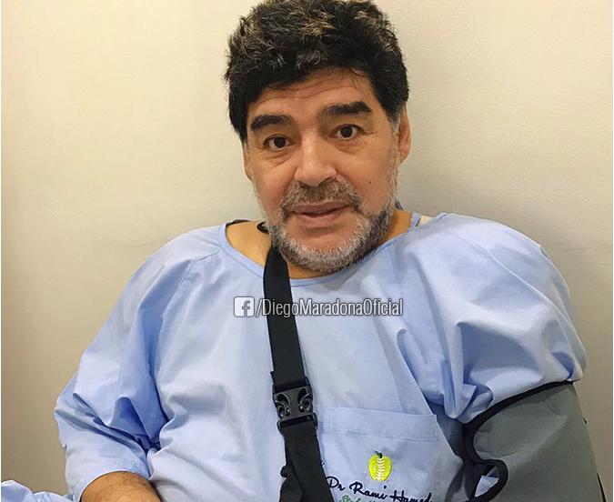 جراحی موفقیت آمیز مارادونا در دوبی