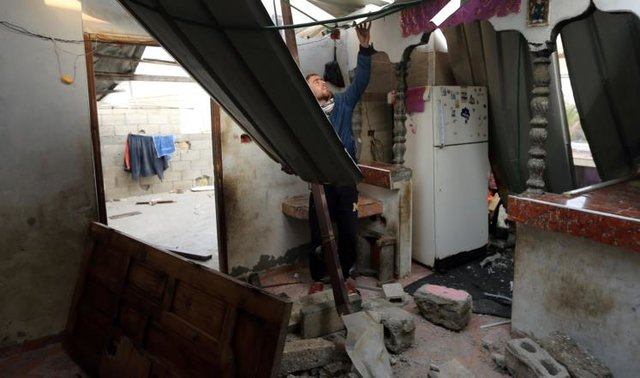 بمباران شدید رژیم صهیونیستی علیه مواضع مقاومت در غزه