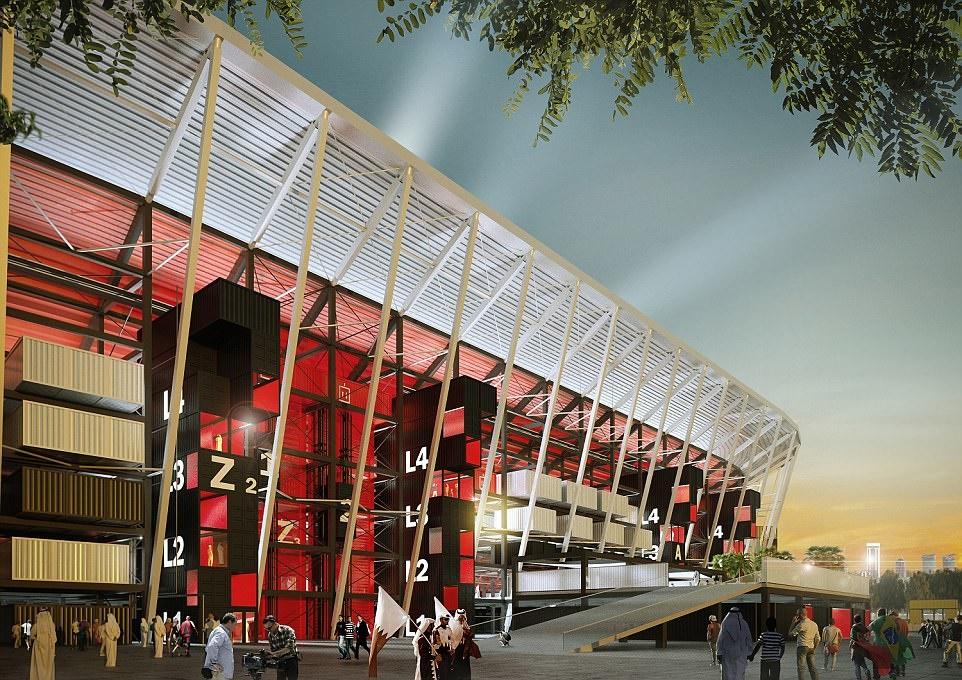 تصاویر +استادیوم قابل حمل قطریها برای جام جهانی ۲۰۲۲