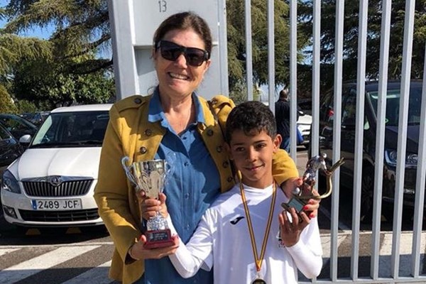 پسر رونالدو برترین گلزن مدرسه شد +عکس