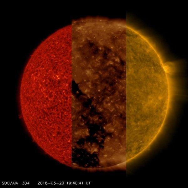۳ تصویر متوالی ناسا از خورشید