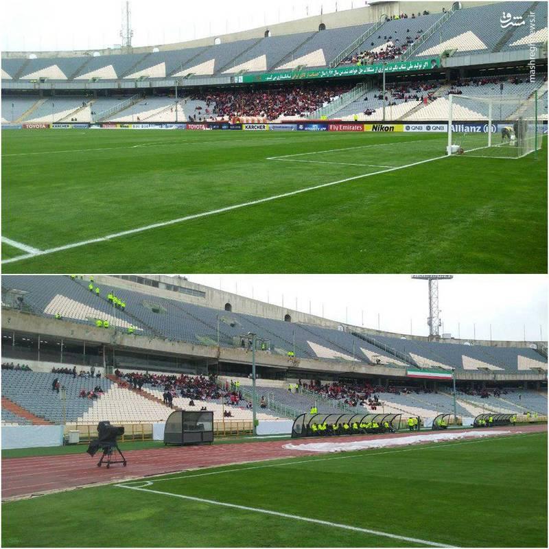 عکس/ حال و هوای ورزشگاه آزادی قبل از بازی پرسپولیس