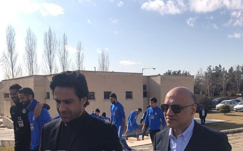 اولین حضور فرهاد مجیدی در تمرین استقلال/عکس