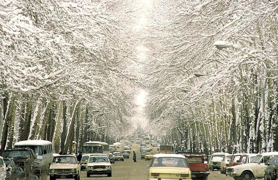 عکس/روز برفی خیابان ولیعصر در سال ۶۵