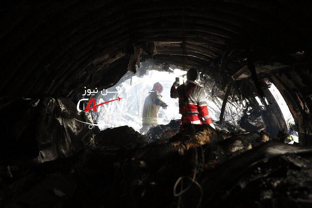 سقوط هواپيماى بوئينگ ٧٠٧ در کرج|از ۱۶ سرنشین تنها یک نفر نجات یافته+فیلم و عکس