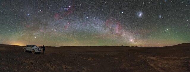 تصویری خارقالعاده از آسمان یکی از خشکترین بیابانهای دنیا