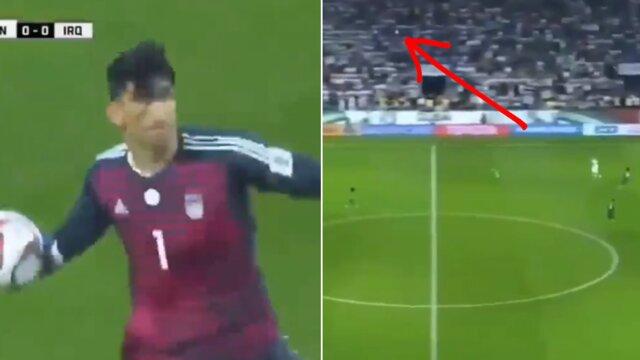 پرتاب دست ۷۰ متری بیرانوند سوژه رسانه های فوتبالی جهان + عکس