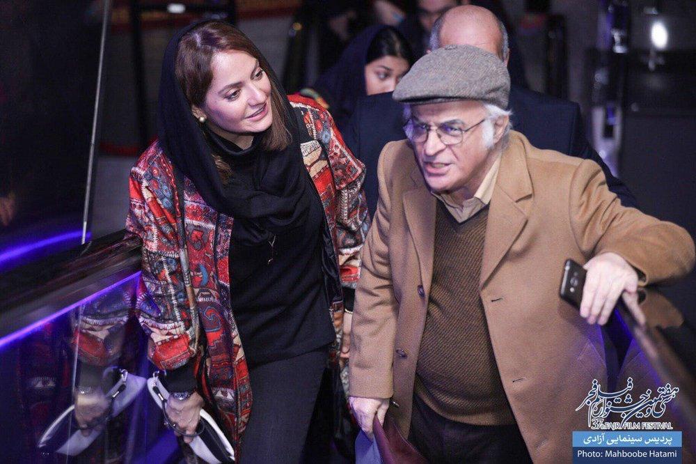 مهناز افشار و فریدون جیرانی در اکران مردمی «آشفتهگی»+عکس