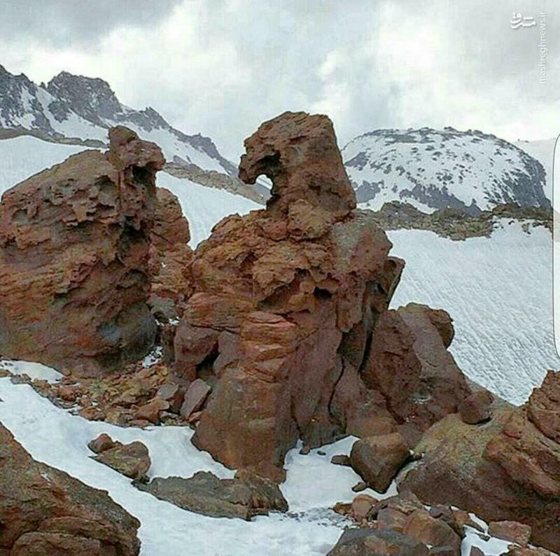 عکس/ صخرهای عجیب در اردبیل