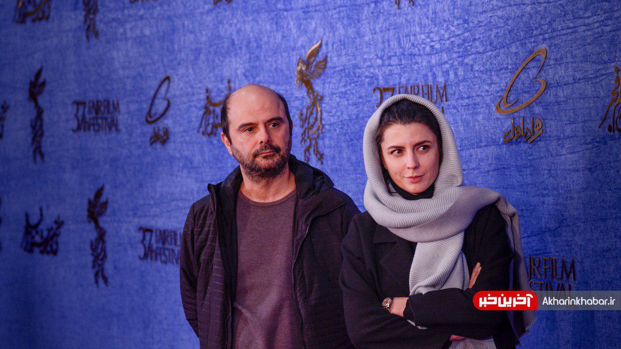عکس| علی مصفا و لیلا حاتمی روی فرش قرمز فجر