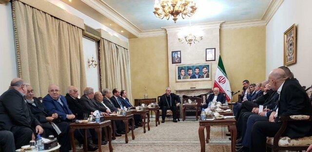 دیدار ظریف با تعدادی از نمایندگان گروهها، احزاب و جریانهای سیاسی لبنان+عکس