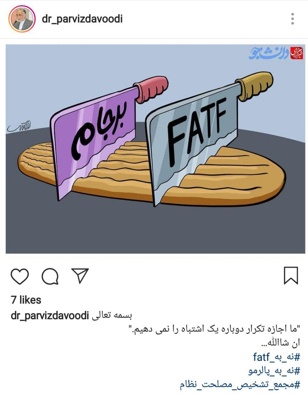 مخالفت وزیر دولت احمدینژاد با تصویب FATF+عکس