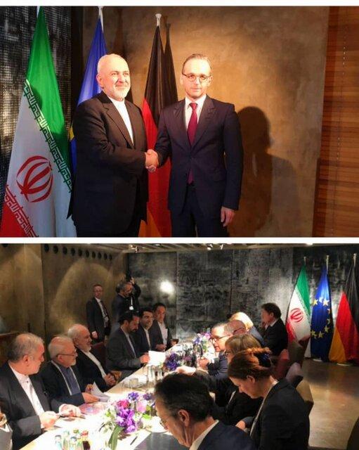 دیدار ظریف با همتای آلمانیاش