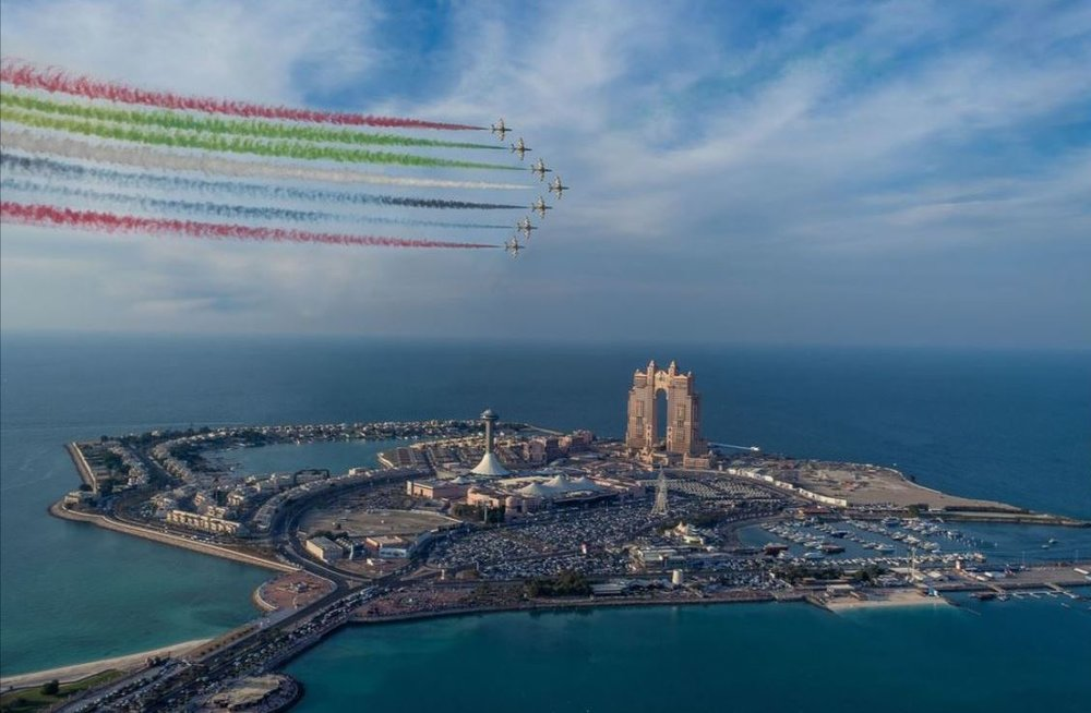 عکس/ آسمان رنگین ابوظبی در عکس روز نشنال جئوگرافیک